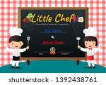 little chef cooking class... | Shutterstock .eps vector #1392438761