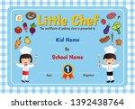 little chef cooking class... | Shutterstock .eps vector #1392438764
