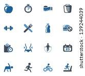 fitness icons | Shutterstock .eps vector #139244039
