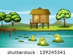 Illustration Of A Pond With...