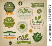 retro styled organic food ... | Shutterstock .eps vector #139245971