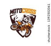 moto cross logo vector racing...   Shutterstock .eps vector #1392502061