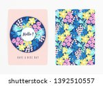 cover design with floral... | Shutterstock .eps vector #1392510557