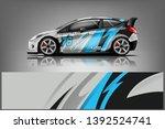 car decal wrap design vector.... | Shutterstock .eps vector #1392524741