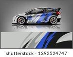 car decal wrap design vector.... | Shutterstock .eps vector #1392524747