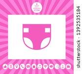 nappy icon symbol. graphic... | Shutterstock .eps vector #1392535184