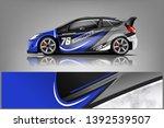 car decal wrap design vector.... | Shutterstock .eps vector #1392539507