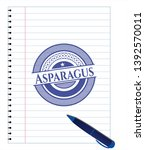 asparagus pen strokes emblem....   Shutterstock .eps vector #1392570011