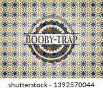 booby trap arabic badge... | Shutterstock .eps vector #1392570044