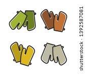 colorful gloves variations... | Shutterstock .eps vector #1392587081