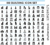 100 building icons set  real... | Shutterstock .eps vector #139259171