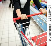 closeup of woman with shopping...   Shutterstock . vector #139259474