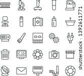 thin line vector icon set  ...   Shutterstock .eps vector #1392611771
