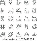 thin line vector icon set  ... | Shutterstock .eps vector #1392612554