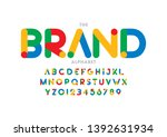 vector of stylized modern font... | Shutterstock .eps vector #1392631934