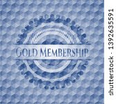 gold membership blue badge with ... | Shutterstock .eps vector #1392635591