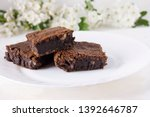 delicious chocolate cake on a...   Shutterstock . vector #1392646787