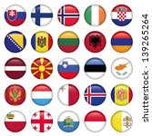 european buttons round flags | Shutterstock .eps vector #139265264
