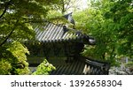 buddhist temple building among ... | Shutterstock . vector #1392658304