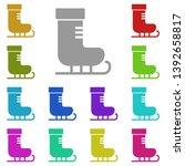skates multi color icon. simple ...