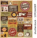 collection of coffee design... | Shutterstock .eps vector #139266089