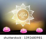 illustration of happy vesak day ... | Shutterstock .eps vector #1392680981