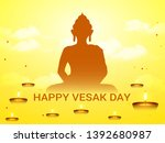 illustration of happy vesak day ... | Shutterstock .eps vector #1392680987