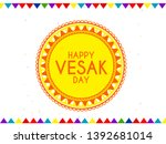 illustration of happy vesak day ... | Shutterstock .eps vector #1392681014