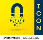 blue magnet with money icon... | Shutterstock .eps vector #1392688307