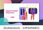 subway website landing page....   Shutterstock .eps vector #1392696821