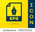 blue eps file document icon.... | Shutterstock .eps vector #1392701321