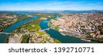 Rhone River Aerial Panoramic...