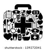 first aid box of of medical... | Shutterstock .eps vector #139272041