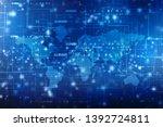 2d illustration world map... | Shutterstock . vector #1392724811