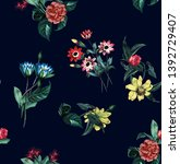 Flowers Fashion Fabric Pattern...