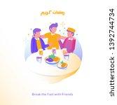 flat illustrations break the... | Shutterstock .eps vector #1392744734
