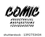 vector of stylized modern font... | Shutterstock .eps vector #1392753434