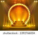 stage podium with lighting ... | Shutterstock .eps vector #1392766034