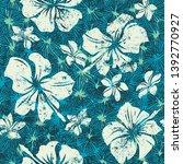 abstract grunge hibiscus...   Shutterstock .eps vector #1392770927