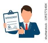 a  infringement document. flat... | Shutterstock .eps vector #1392771404