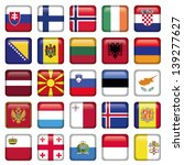 europe buttons square flags | Shutterstock .eps vector #139277627