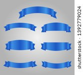 set of blue ribbon banner icon... | Shutterstock .eps vector #1392779024