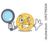 detective hawaiian pizza in the ... | Shutterstock .eps vector #1392790334
