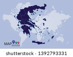 high detailed blue map of... | Shutterstock .eps vector #1392793331