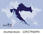 high detailed blue vector map   ... | Shutterstock .eps vector #1392796094