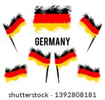 german flag developing in the... | Shutterstock .eps vector #1392808181