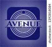 avenue emblem with jean texture....   Shutterstock .eps vector #1392818084