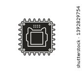 hardware  processor  chip icon. ... | Shutterstock .eps vector #1392829754