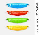 infographics banners. gradient. ... | Shutterstock .eps vector #1392844001