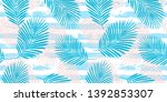 tropical pattern  palm leaves...   Shutterstock .eps vector #1392853307
